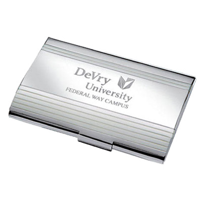 Chrome Plated Metal Business Card Case