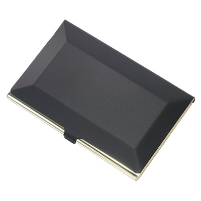 Black Beveled Edge Card Case