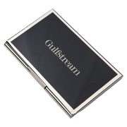Metal Card Case With Colored Cover