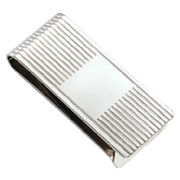 Silver Ribbed Money Clip