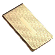 Gilt Plated Metal Money Clip