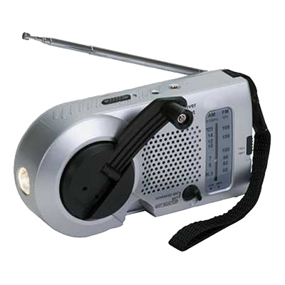 Kaito Small Hand Crank Dynamo Radio With Flashlight