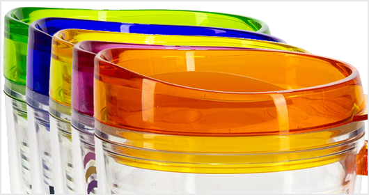 Lakeshore 12 oz. Tritan Mug With Translucent Handle and Lid