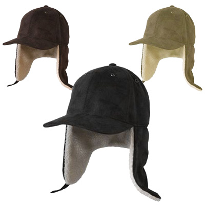 Suede Like Winter Flap Cap