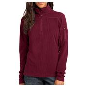 Eddie Bauer Ladies 1/4-Zip Grid Fleece Pullover