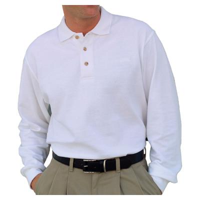 Vantage Long Sleeve Enterprise Pique Polo