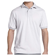 Hanes Adult 5.2 oz. 50/50 EcoSmart Jersey Knit Polo - White