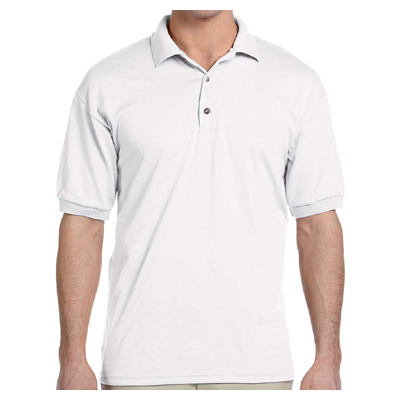 Gildan 6 oz. 50/50 Jersey Polo - White