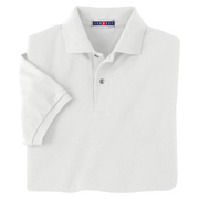 Jerzees 5.9 oz. 50/50 Pique Polo With SpotShield - White