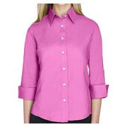Devon & Jones Ladies' Perfect Fit 3/4 Sleeve Stretch Poplin Blouse
