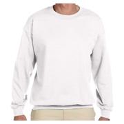 Gildan Adult Heavy Blend 8 oz. 50/50 Fleece Crew - White