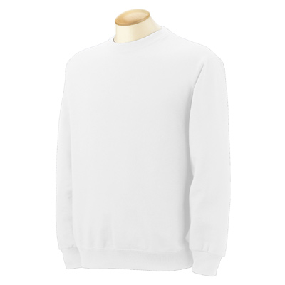 Fruit of the Loom 8 oz. Best 50/50 Fleece Crew - White