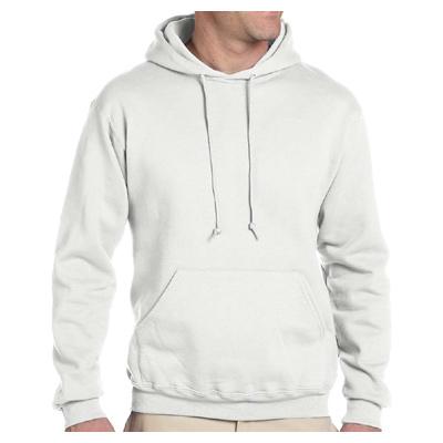 Jerzees 9.5 oz. 50/50 Super Sweats NuBlend Fleece Pullover Hood - White