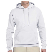 Jerzees Adult 8 oz. NuBlend Fleece Pullover Hood - White