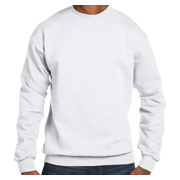 Hanes Adult 7.8 oz. EcoSmart 50/50 Fleece Crew - White
