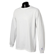 Champion 5.2 oz. Long-Sleeve Tagless T-Shirt - White