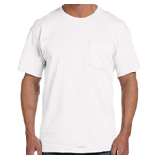 Fruit of the Loom 5 oz. 100% Heavy Cotton HD Pocket T-Shirt - White