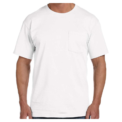 Fruit of the Loom Adult 5 oz. HD Cotton Pocket T-Shirt - White