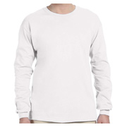 Fruit of the Loom Adult 5 oz. HD Cotton Long-Sleeve T-Shirt - White