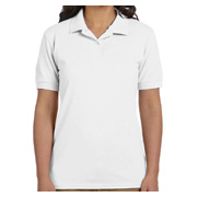 Gildan Ladies' 6.8 oz. Pique Polo - White