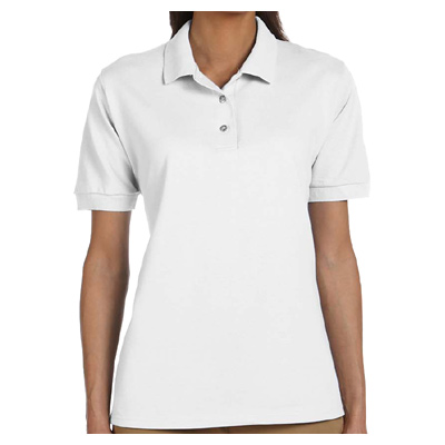 Gildan Ladies' Ultra Cotton 6.5 oz. Pique Polo - White