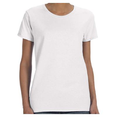 Gildan Ladies' 5.3 oz. T-Shirt - White