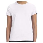 Hanes Ladies' 4.5 oz. 100% Ringspun Cotton nano-T T-Shirt - White