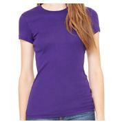 Bella + Canvas Ladies' Sheer Mini Rib Short-Sleeve T-Shirt
