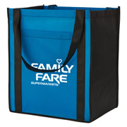 Large Non-Woven Grocery Tote With Pocket