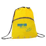 Crinkled Nylon Drawstring Backpack With Vented Front Pocket