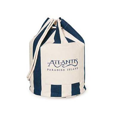 Striped Drawstring Duffel/Backpack