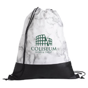 Marble Drawstring Backpack