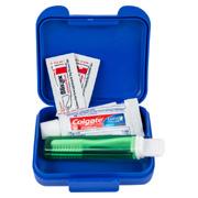 Dental Kit in Plastic Pocket Tote Bag