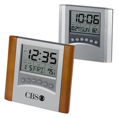 Desktop Calendar Alarm Clock With Thermometer