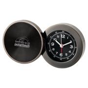 Black Gun Metal Round Alarm Clock