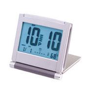 Folding Aluminum Jumbo LCD Alarm Clock