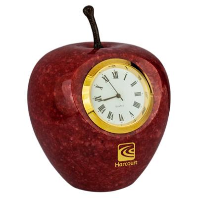 Marble Apple Clock
