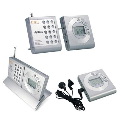 Digital FM Scan Sports Radio With Alarm Clock and Speaker Base