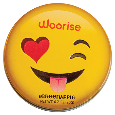 Winking Emojy Tin With Green Apple Mints