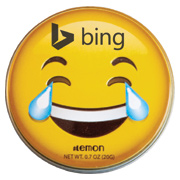 Laughing Emojy Tin With Lemon Mints
