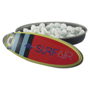 Stripe Surfboard Mint Tin