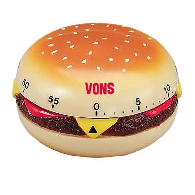 60 Minute Kitchen Timer - Hamburger