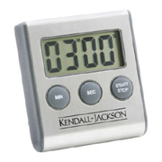 Brushed Stainless Steel Magnetic Digital Kitchen Timer
