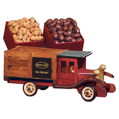 Wooden 1925 Stake Truck - Chocolate Covered Almonds and Jumbo Cashews