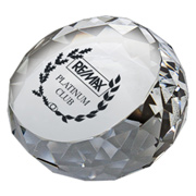 Round Diamond Crystal Paperweight