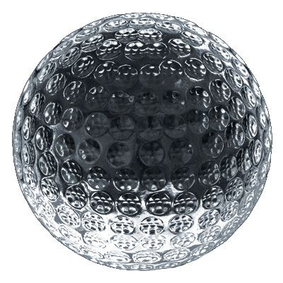 Crystal Golf Paperweight