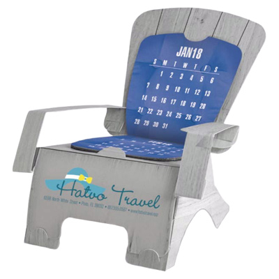 Beach Chair Die-Cut Calendar