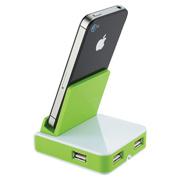 Rotate Mobile Phone Holder & USB Hub