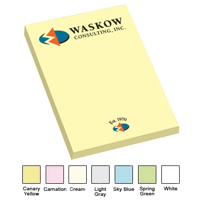 Post-it Custom Printed Notes 2 x 3