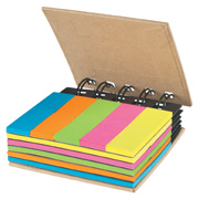 Spiral Book With Sticky Notes and Flags